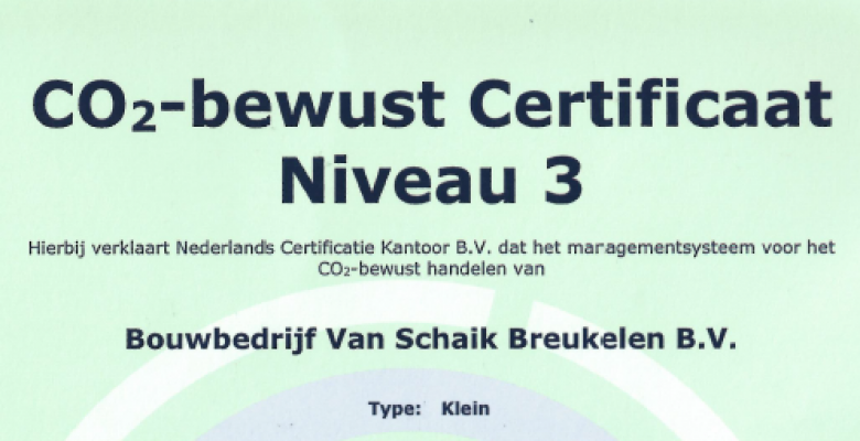 Certificering CO2 Prestatieladder !