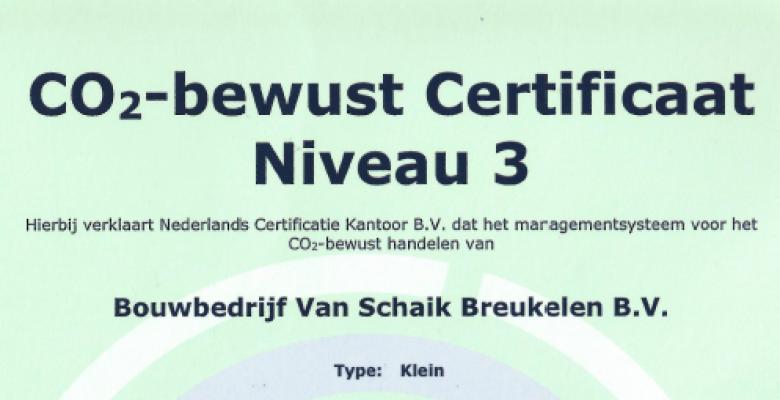 Certificering CO2 Prestatieladder !