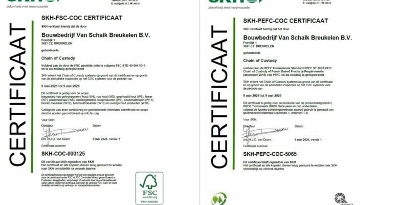 FSC en PEFC Certificering !