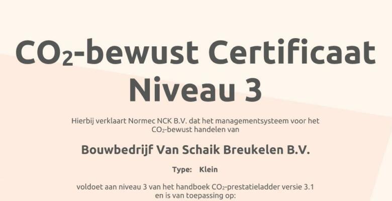 CO2 Certificering is binnen !!